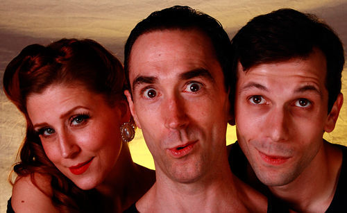 Lydia Mackay, Gregory Lush and Sam Swanson keep the accent on light comedy in Noel Coward's Present Laughter at Theatre Three.