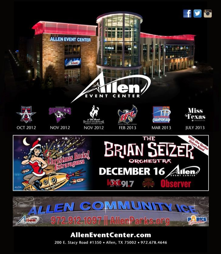 See what's coming to the Allen Event Center!