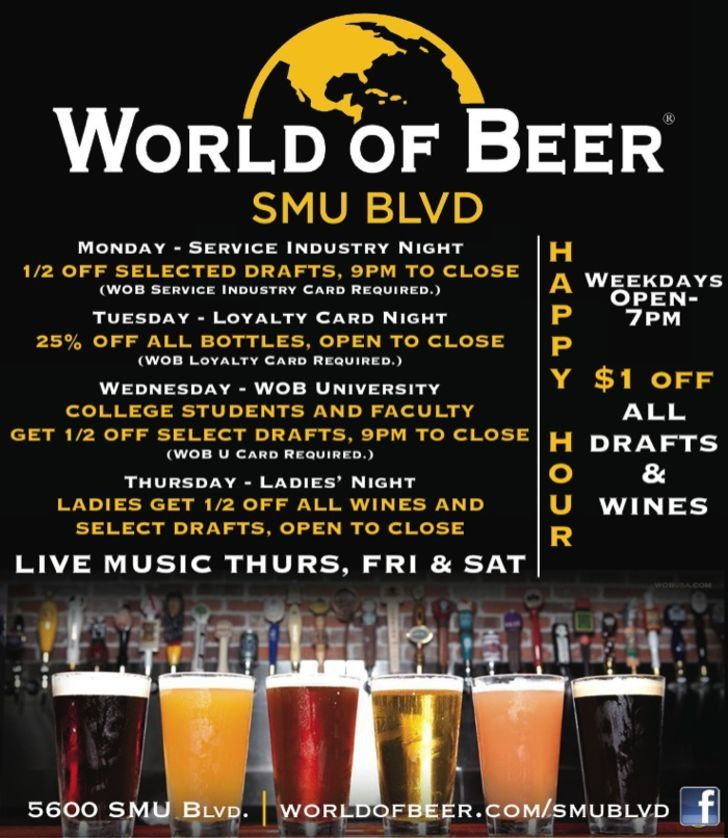 World Of Beer - SMU Blvd