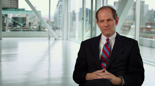 "Former New York Governor and Attorney General Eliot Spitzer, the last major politician to launch a sustained assault on financial crime, compares Wall Street execs to Mafia dons who are insulated from direct involvement: ""Juries don't like holding mid-level people accountable when the top people are getting off."""