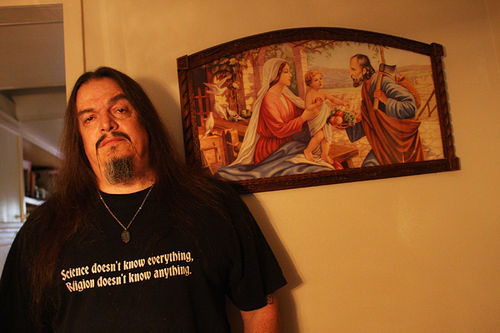 "Aron Ra, a popular ""YouTube atheist"" from Garland, with more than 60,000 subscribers tuning in each week to hear his shows."
