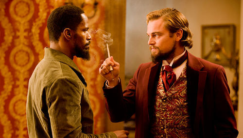 There will be blood: Jamie Foxx and Leonardo DiCaprio face off in Django.