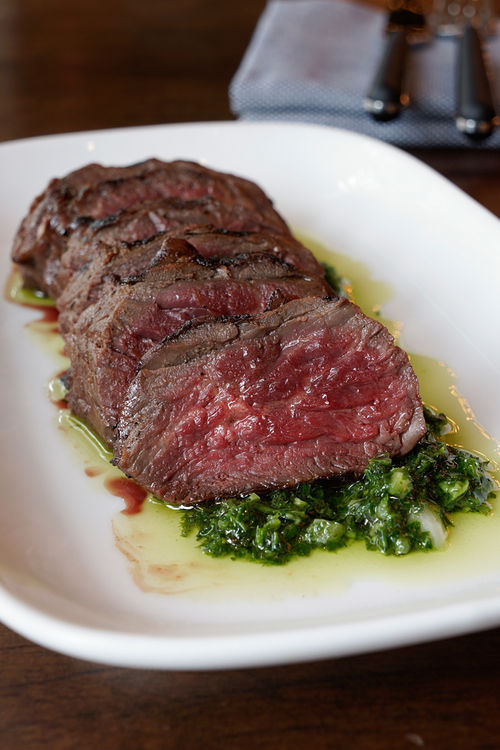 Hanger steak at Cook Hall.