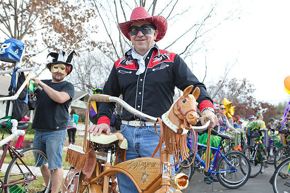 Roy Rogers bike and rider