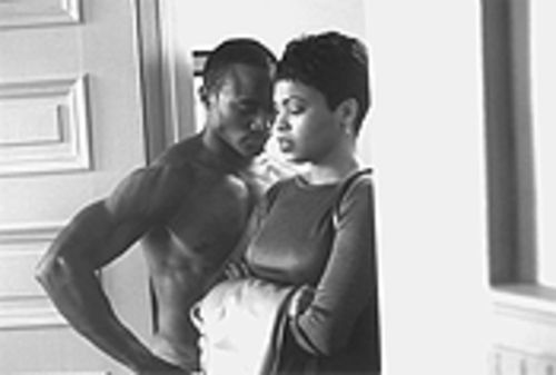 Love, African-American style: Taye Diggs and Nia Long share an uncomfortable -- but sexy! -- moment in The Best Man.
