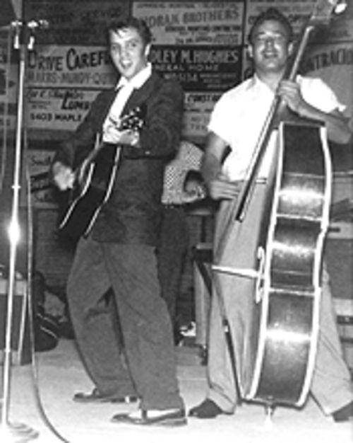 "Elvis Presley first performed on the Big ""D"" Jamboree stage in April 1955, when he was still a scrawny up-and-comer."