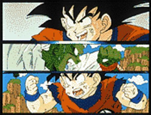 The holy trinity of Dragonball Z, from top: Goku, Piccolo, and Gohan