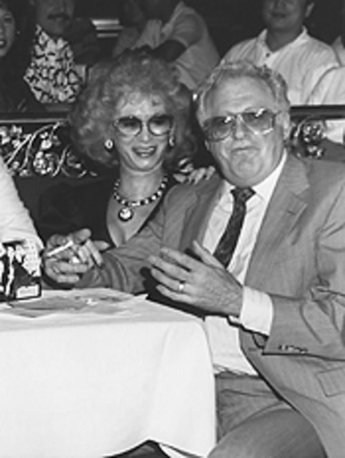 Berger with gal pal Dolores Pomilio play ring-a-ding-ding at a Vegas casino. He gave her a diamond ring. When things fell apart, it turned out to be as fake as everything else.