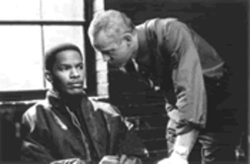 Jamie Foxx, left, and David Morse fish for laughs, drama, anything in Bait.