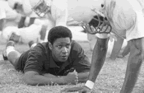 Coach Boone (Denzel Washington) sweats the small stuff in Remember the Titans.