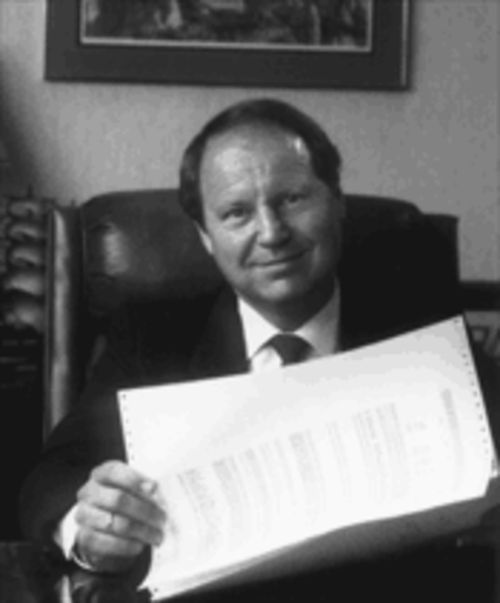 At its peak in 1989, the international ecstasy smuggling operation that Pofahl controlled was the largest in U.S. history. Pictured here in his North Dallas Office in the late 1980s, Pofahl says that his decision to manufacture and distribute the ecstasy was a terrible mistake.