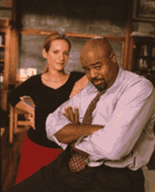 A lesson plan before dying: Teacher Lauren Davis (Jessalyn Gilsig) and Principal Steven Harper (Chi McBride) enroll in Boston Public.