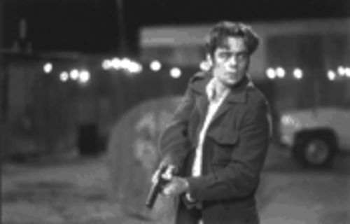 Benicio Del Toro stars in two of the year's best films: The Way of the Gun (pictured) and Traffic.