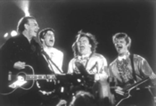 Song sung blue: From left, Neil Diamond, Jason Biggs, Jack Black, and Steve Zahn in Saving Silverman.