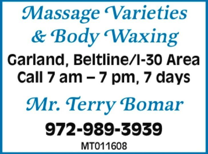 Massage Varieties & Body Waxing