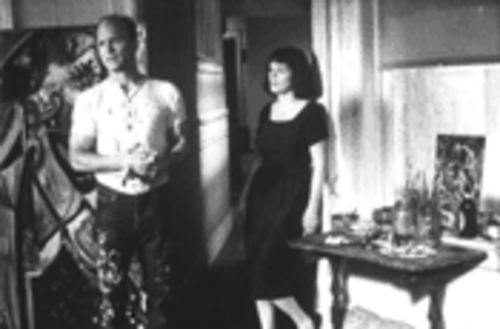 Oscar grouches: Ed Harris and Marcia Gay Harden lay it on thick in Pollock.