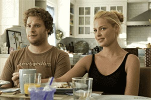 Do roses grow in bong water? Seth Rogen and Katherine Heigl get hooked up in Knocked Up.