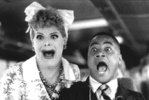 Cuba Gooding Jr. is having a Lucille Ball.