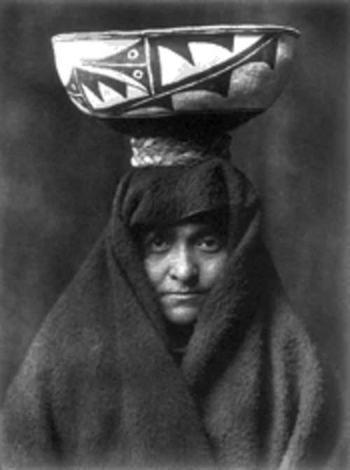 """A Zuñi Woman,"" a 1903 photogravure by Edward S. Curtis, now on view at Photographs Do Not Bend"