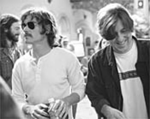 Rock on and on and on: Billy Crudup and Cameron Crowe on the set of last year's top-tenner Almost Famous, now longer and better