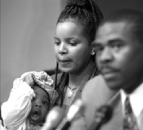 Irvin sounded repentant at his 1996 news conference after pleading no contest to drug possession. His wife, Sandy, and their baby are at his side. The new attitude wouldn't stick.