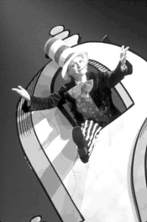The Cat in the Hat came back: Cathy Rigby corrals the kiddies' attention in Seussical.