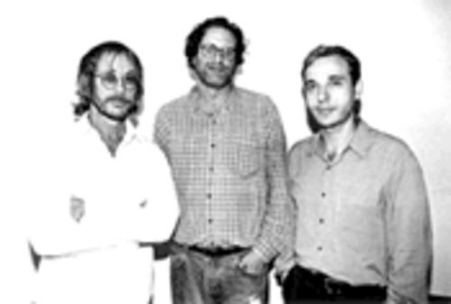 I'd vote for any of these guys over Joe Lieberman: Danny Goldberg, middle, stands with Warren Zevon, left, who's signed to Goldberg's Artemis label.