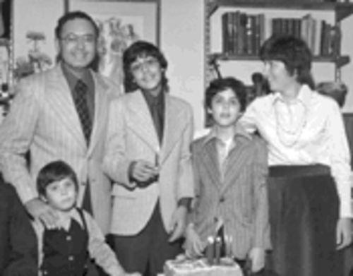 Happy together: The Friedmans in happier times