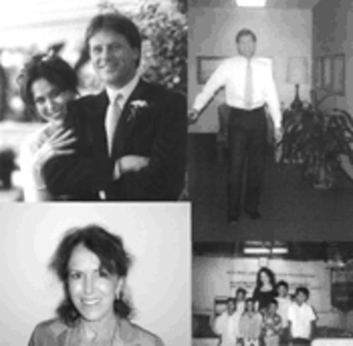 A tangled web, clockwise from top left: Sandra married Alan Rehrig in December 1984; Alan in his office on December 6, 1985, the day before he was found dead; this photograph of Sandra and unidentified children was found among her belongings--Sandra claimed she'd ministered to kids in India, smuggled Bibles into China and hid in caves in Pakistan while handing out Christian tracts; a recent photo of Sandra, now 59.