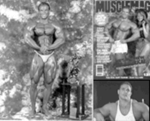 For Mike Scarcella, winning the Mr. America championship in 1992 was the fulfillment of a boyhood dream. But aside from a few magazine covers (pictured upper right with ex-wife Judy), some guest appearances and status that enabled him to make a decent living as a personal trainer, the recognition and revenue he had hoped to receive never materialized.
