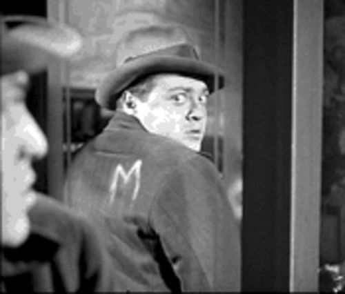 Peter Lorre is a marked man in M.