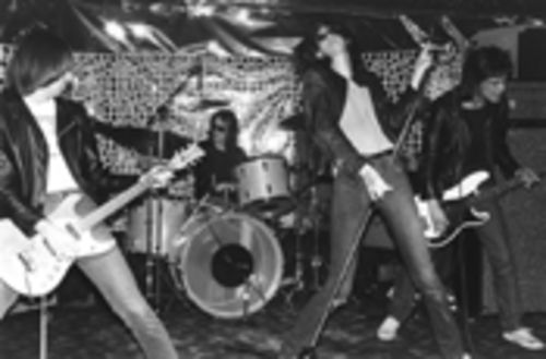 Every guy in this picture, except the drummer, is now dead. Long live the Ramones.