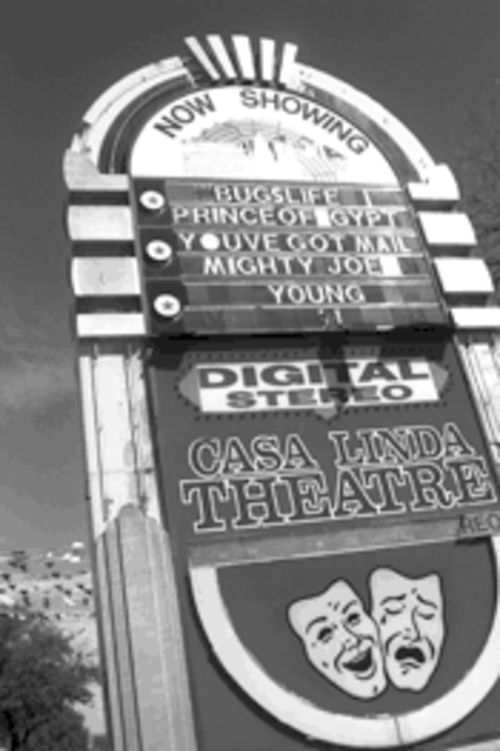 Timeless, but not classics: Casa Linda Theatre's marquee