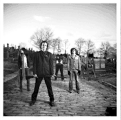 Apparently, Ryan Adams, second from right, hangs out in graveyards. But at least he's not a goose-stepping Donald Duck imitator.