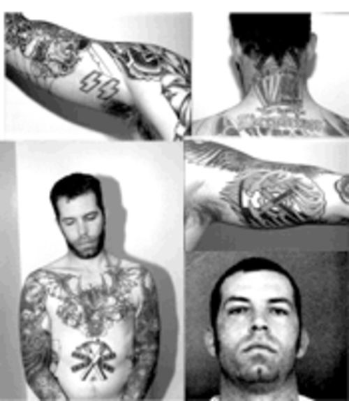 Although Jesse Chaddock had covered some of his racist skinhead tattoos,