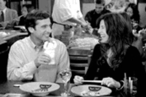 The joy of sexless: Steve Carell and Catherine Keener enjoy a sweet moment in this obscenely funny movie.