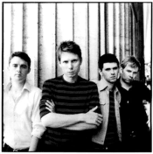We're fairly confident that the bottom of this Franz  Ferdinand photo isn't cropping out any kilts.
