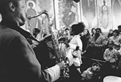 Church gets jumping during a Coltrane jam session, which features 15-minute solos from Franzo King.