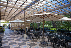 Carolina's has a large dining room, and their bar features some 30 beers on tap. But with a patio like this, who cares?