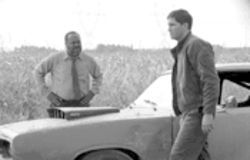 Ticket to ride: Frankie Faison, left, and Jim Caviezel in Highwaymen.