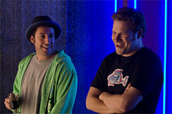 Adam Sandler and Seth Rogen are two very Funny People.