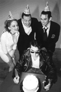 Clockwise from left: Kelley McRae, Lynn Mathis, Billy Gill and Isaiah Cazares attack the passage of time in Phillip Ridley's surreal comedy.