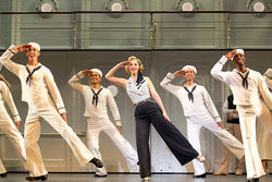 Rachel York as Reno Sweeney hits the deck in tap-happy Anything Goes at the Winspear.