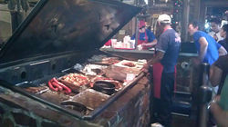 Having to stand in line for Hard Eight&#039;s brisket is almost enough to make a Brit impolite.