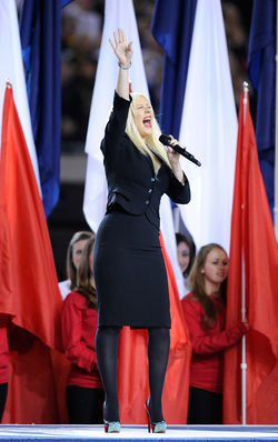 Christina Aguilera's flub of the national anthem was just one of many fumbles during Super Bowl week.