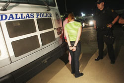 Officers bring women
