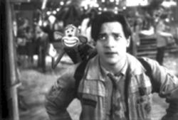 Which is the monkey, which is the organ grinder? Brendan Fraser and pal in Monkeybone