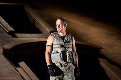 Action Thane: Chris Hury plays Macbeth as a power-hungry general in the modern dress version at Shakespeare Dallas.
