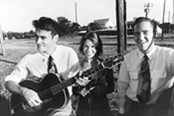 Damn yankees: Hot Club of Cowtown's Whit Smith (left) and Elana Fremerman formed the band while living in Manhattan. Bassist Billy Horton joined after he found his way out of the 1950s.