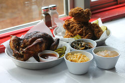 Sides and a killer courtyard help Chicken Scratch overcome hit-or-miss chicken.